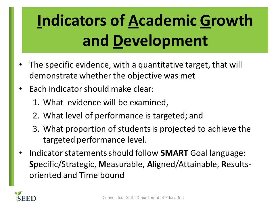 Indicators of Academic Growth and Development