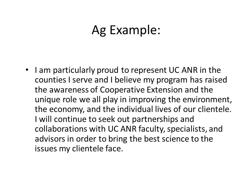 Ag Example: