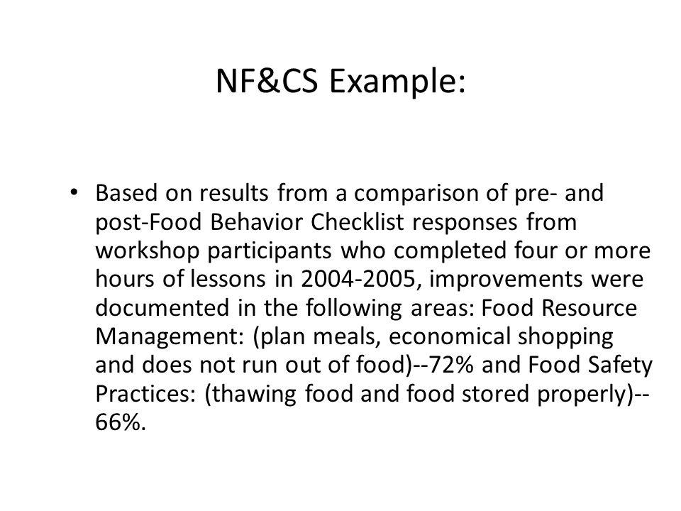 NF&CS Example: