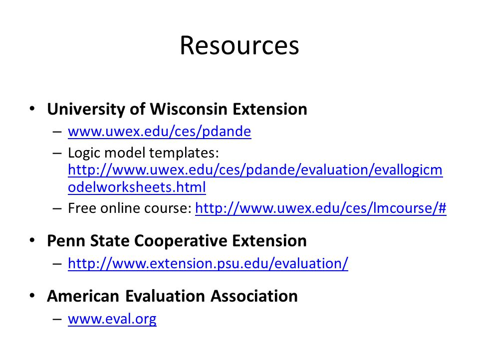Resources University of Wisconsin Extension