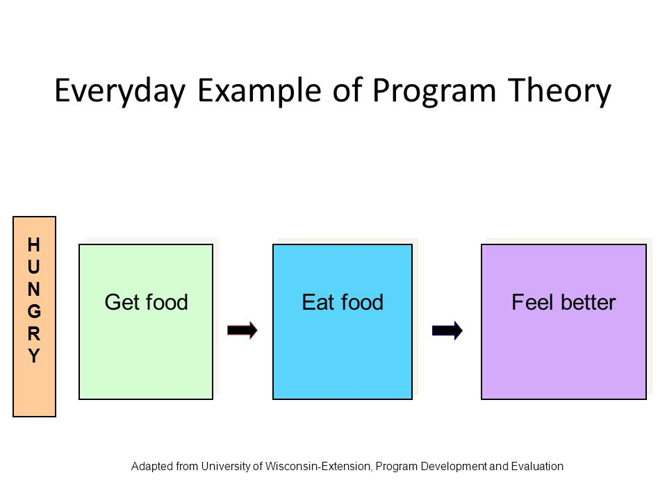Everyday Example of Program Theory