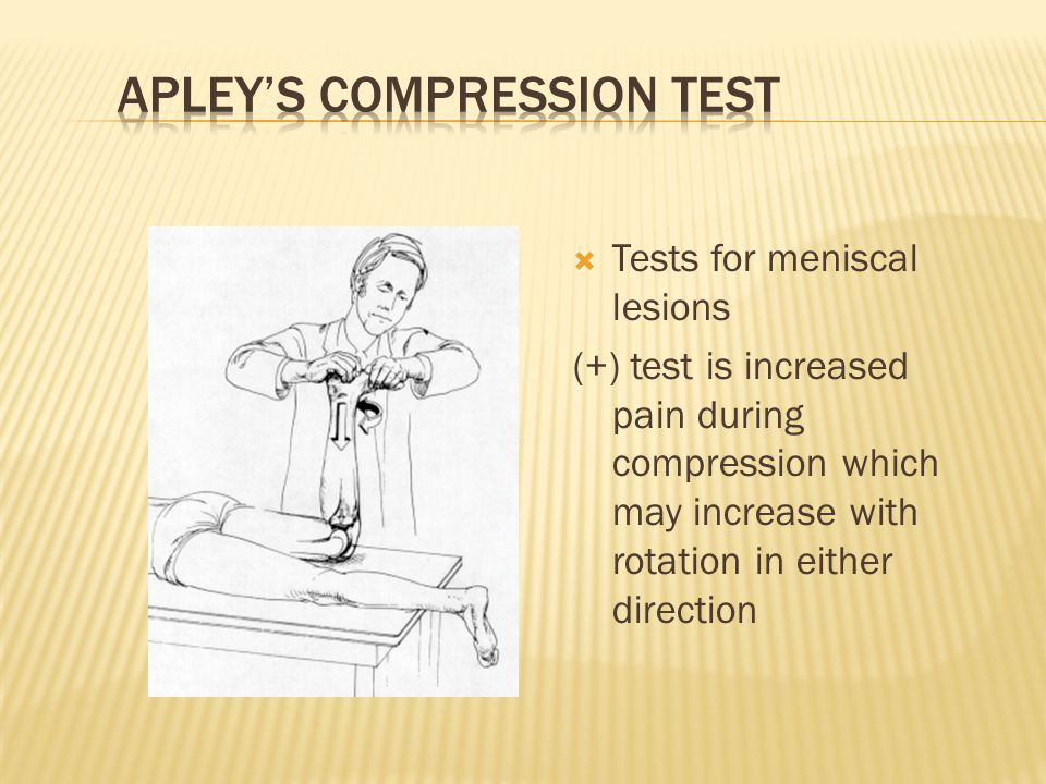Apley's Compression Test