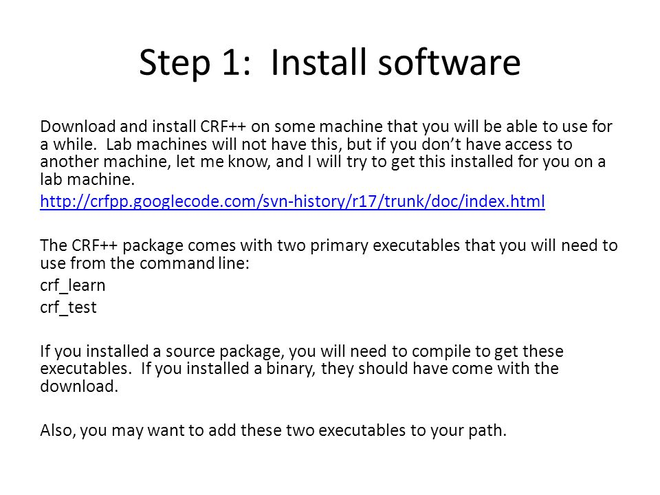 Step 1: Install software