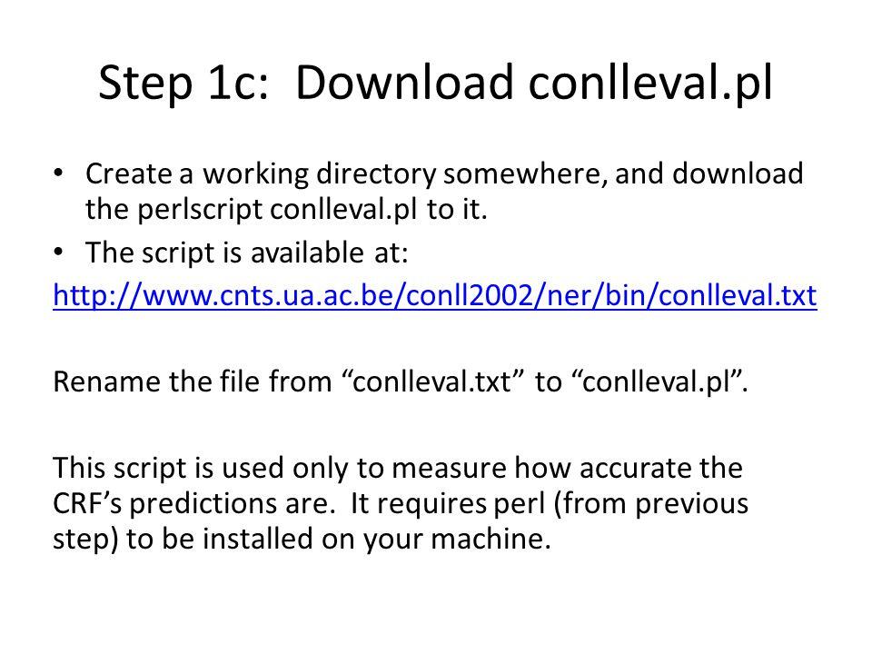 Step 1c: Download conlleval.pl