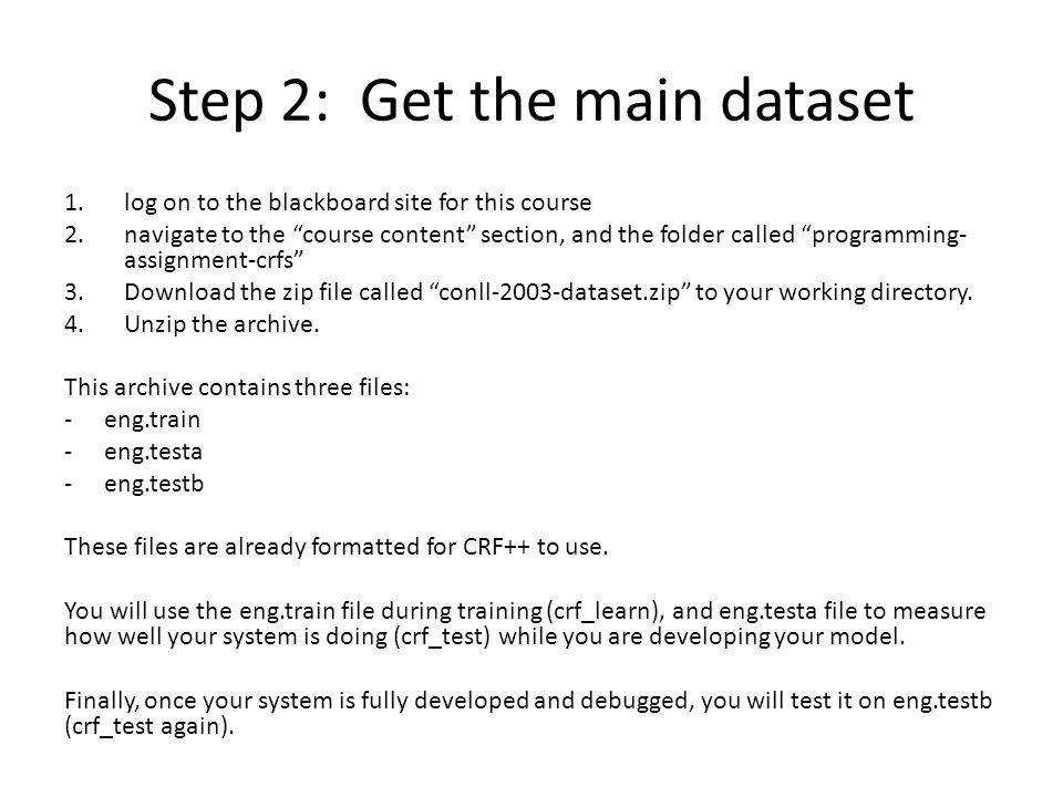 Step 2: Get the main dataset