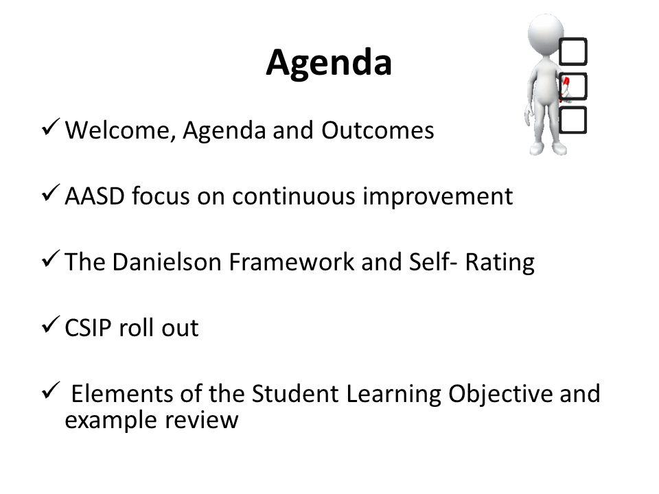 Agenda Welcome, Agenda and Outcomes
