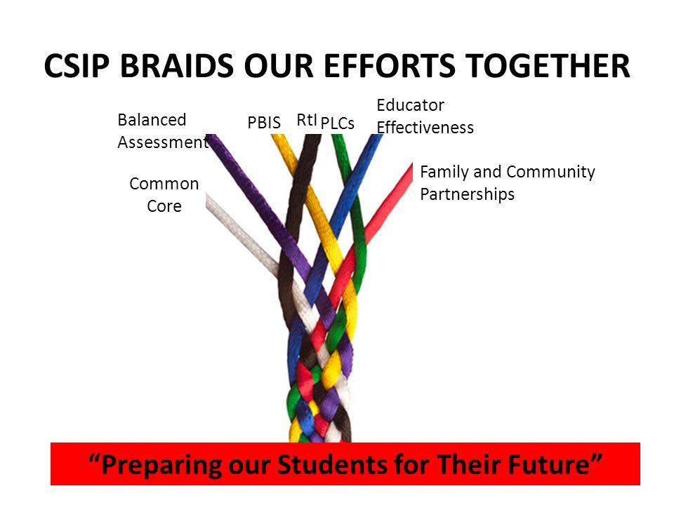 CSIP BRAIDS OUR EFFORTS TOGETHER
