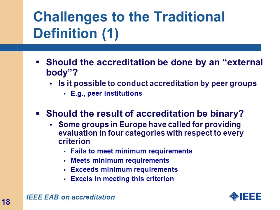 Challenges to the Traditional Definition (1)