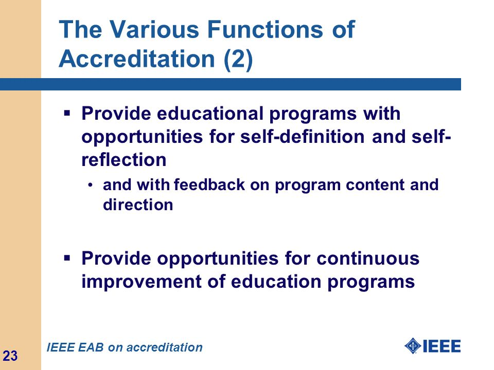 The Various Functions of Accreditation (2)
