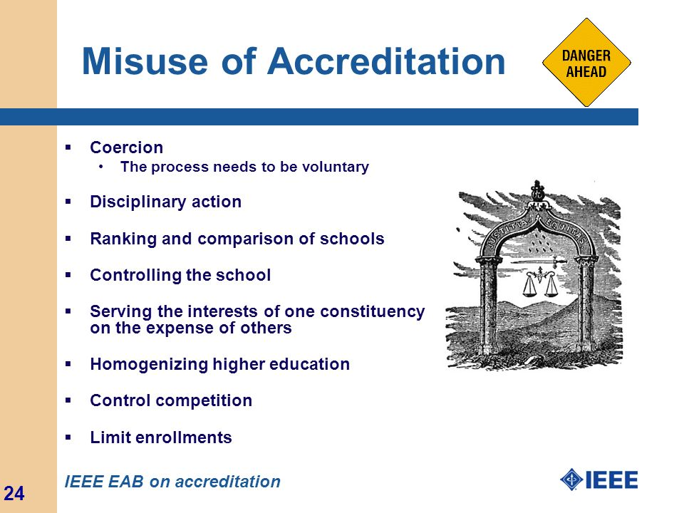 Misuse of Accreditation
