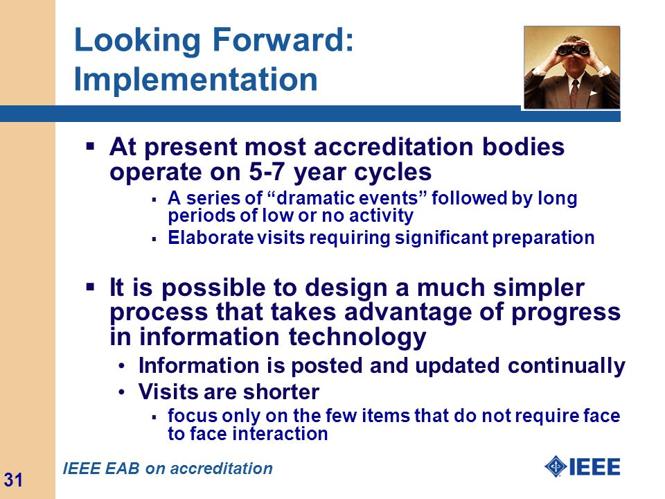 Looking Forward: Implementation