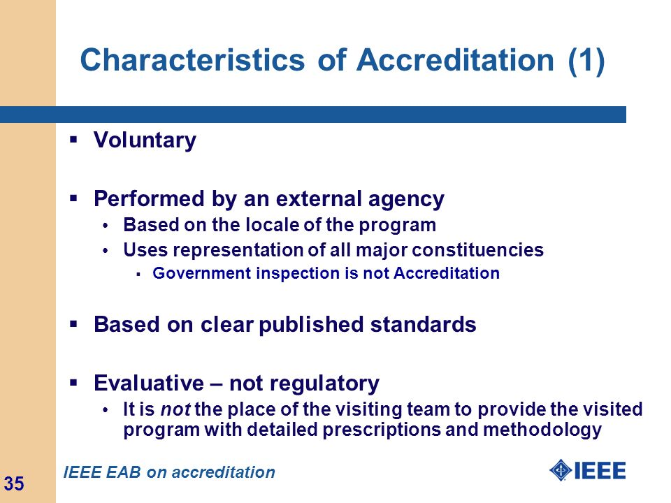 Characteristics of Accreditation (1)