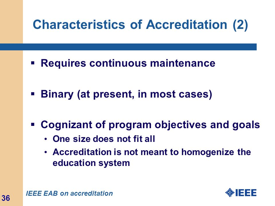 Characteristics of Accreditation (2)
