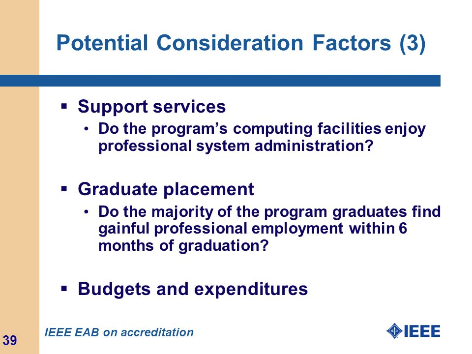 Potential Consideration Factors (3)