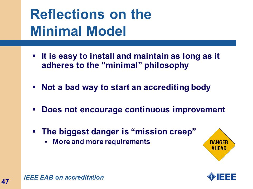 Reflections on the Minimal Model