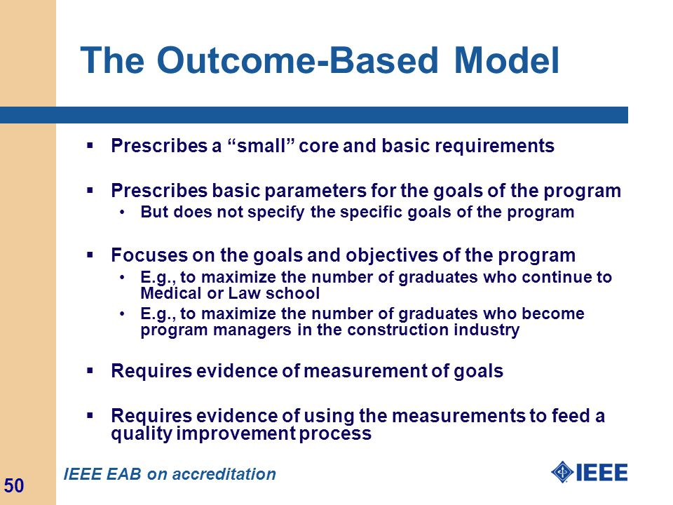 The Outcome-Based Model