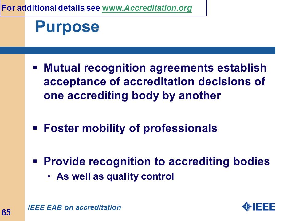 For additional details see www.Accreditation.org