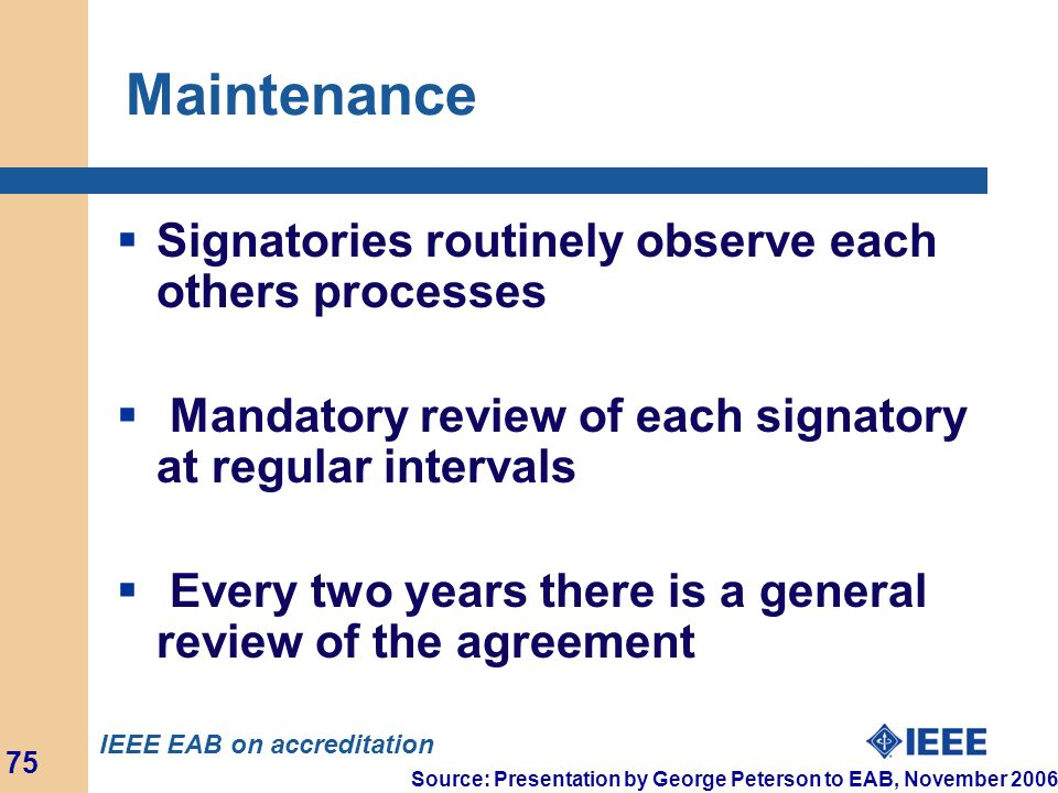 Maintenance Signatories routinely observe each others processes