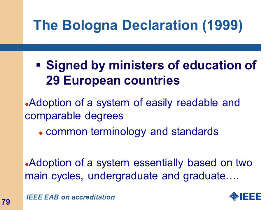 The Bologna Declaration (1999)