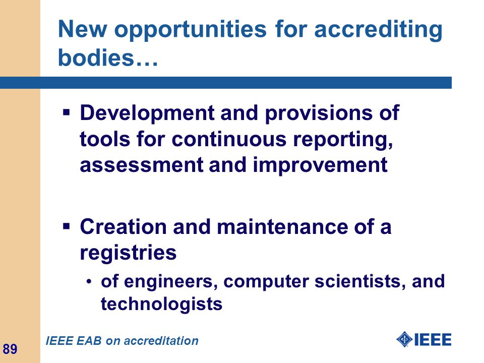 New opportunities for accrediting bodies…