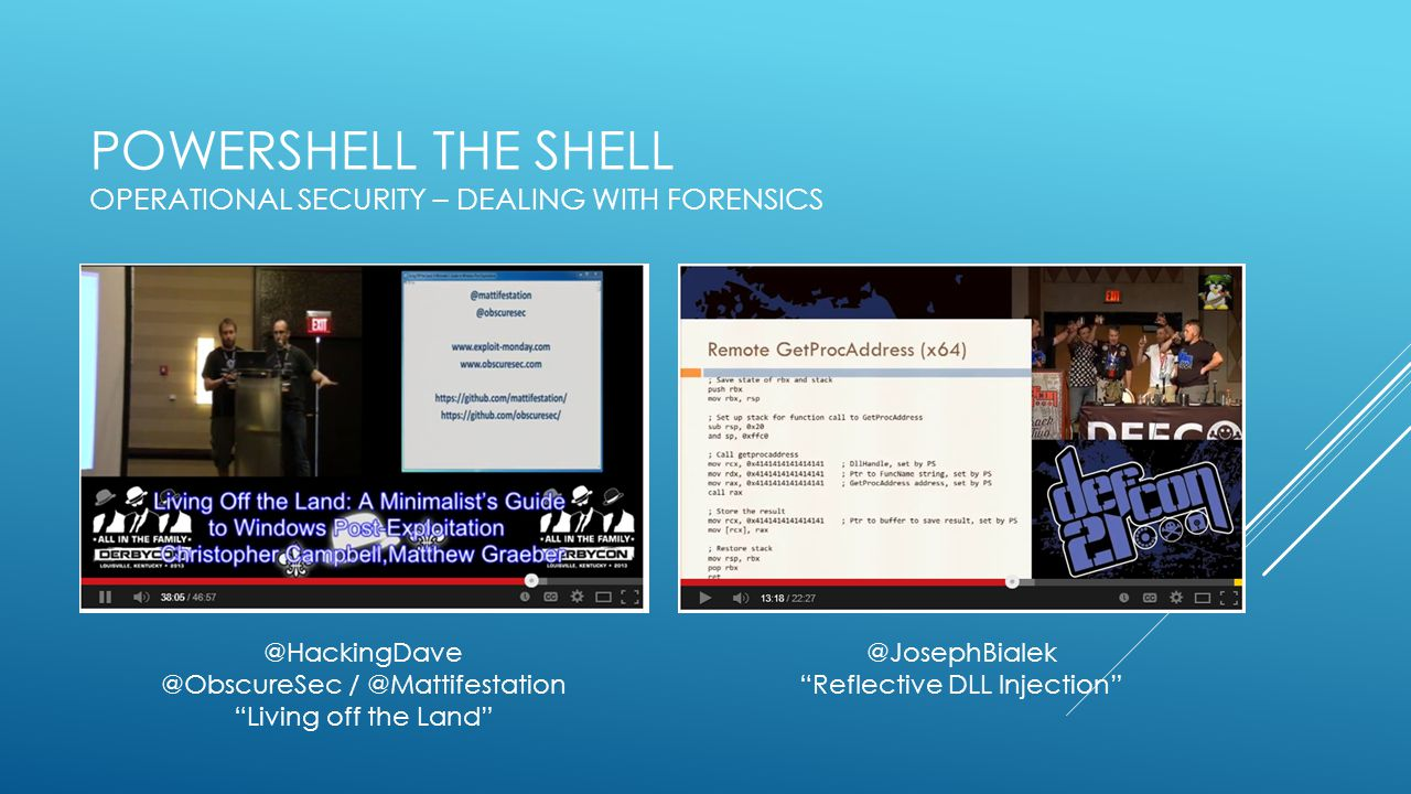 PowerShell the Shell Operational Security – Dealing with Forensics
