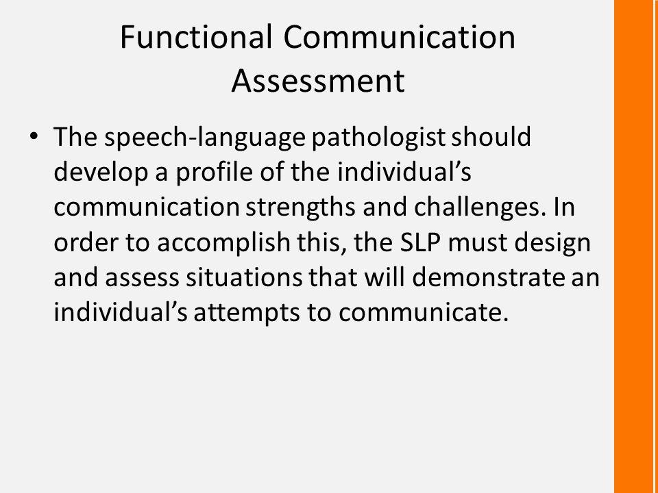 Functional Communication Assessment