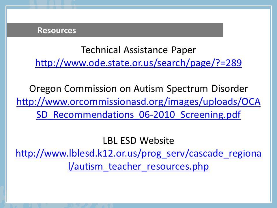 Technical Assistance Paper