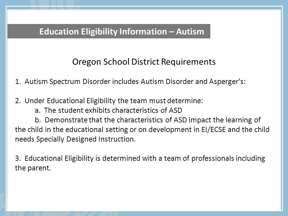 Oregon School District Requirements