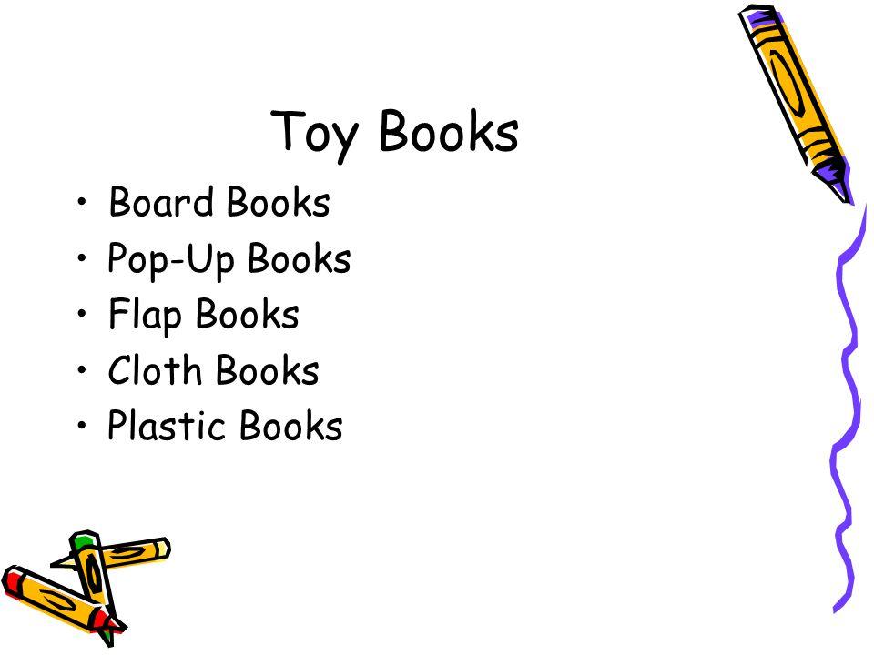 Toy Books Board Books Pop-Up Books Flap Books Cloth Books