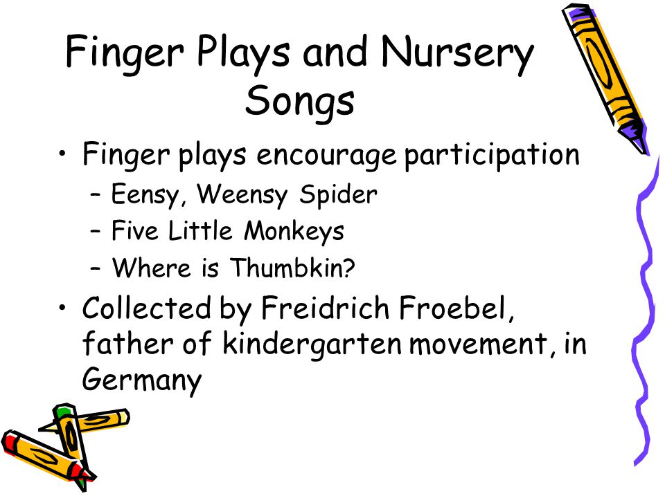 Finger Plays and Nursery Songs