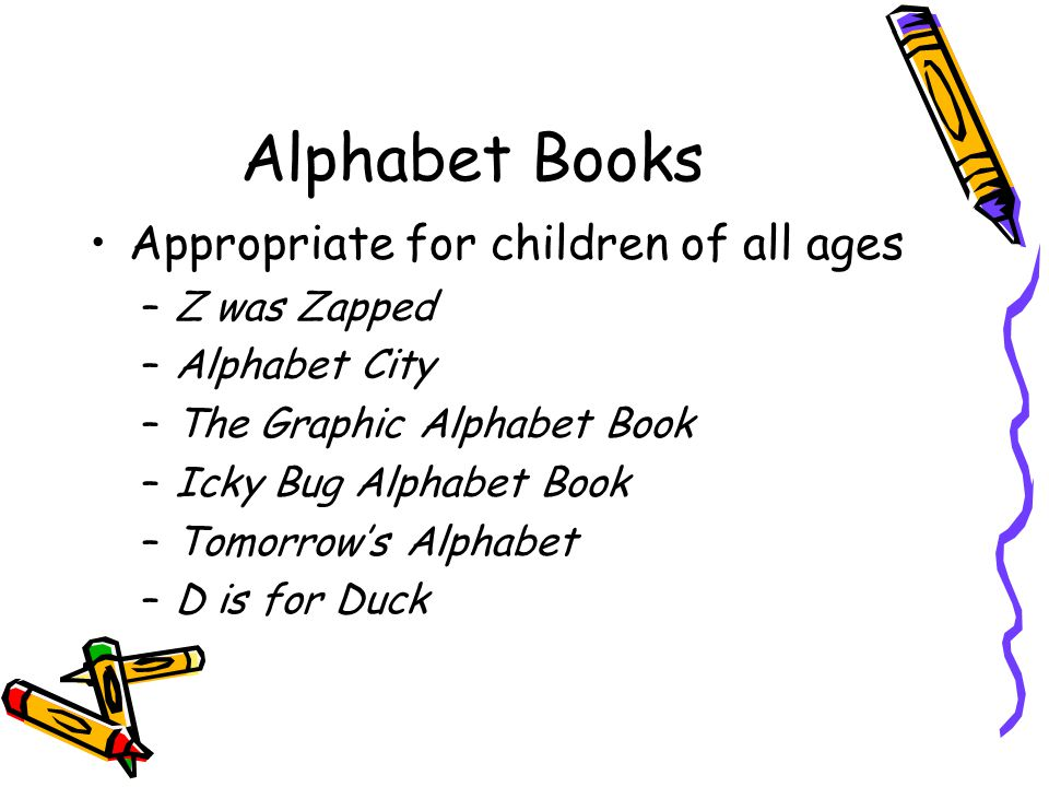 Alphabet Books Appropriate for children of all ages Z was Zapped