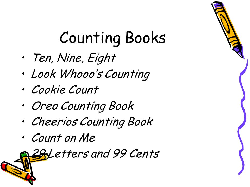 Counting Books Ten, Nine, Eight Look Whooo's Counting Cookie Count
