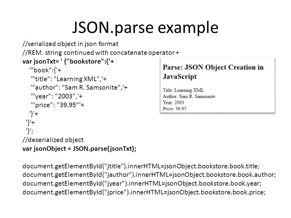 JSON.parse example //serialized object in json format