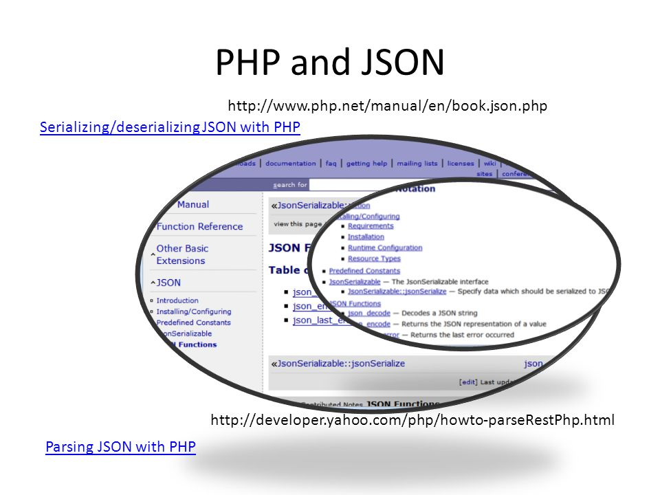 PHP and JSON http://www.php.net/manual/en/book.json.php