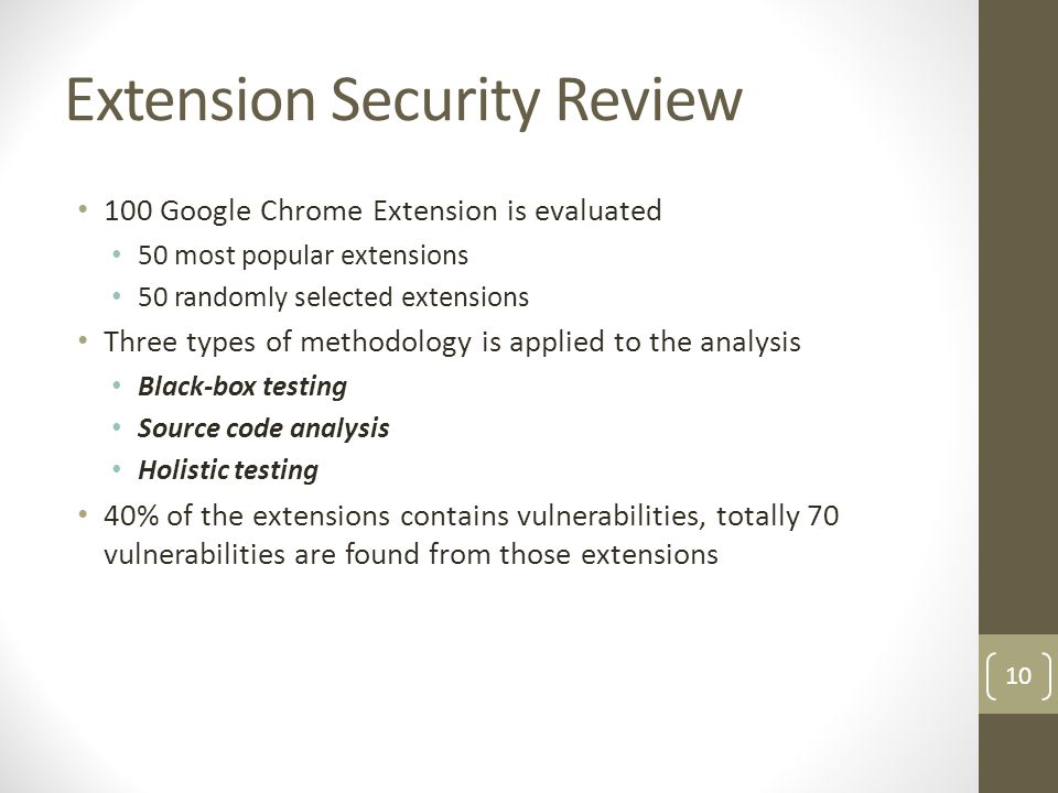 Extension Security Review