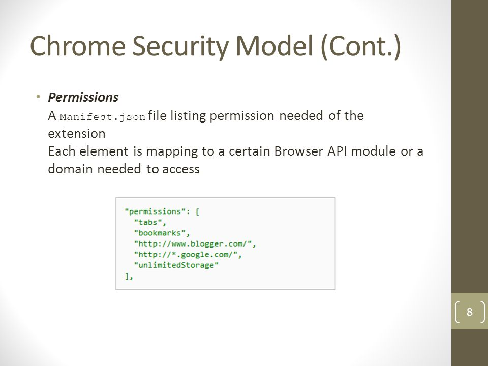 Chrome Security Model (Cont.)