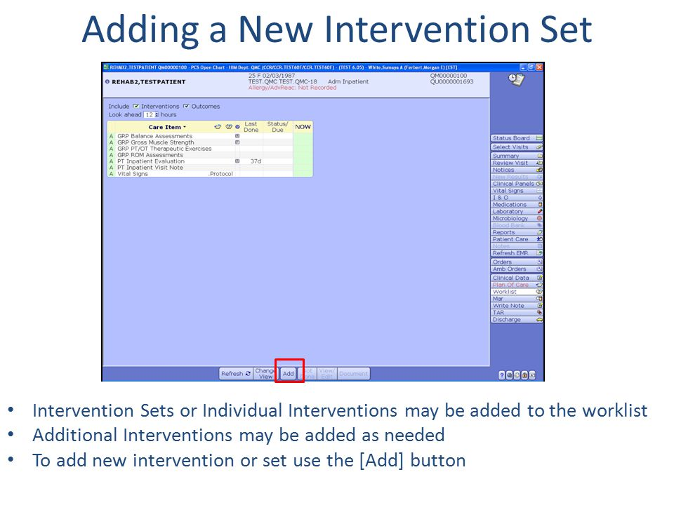Adding a New Intervention Set