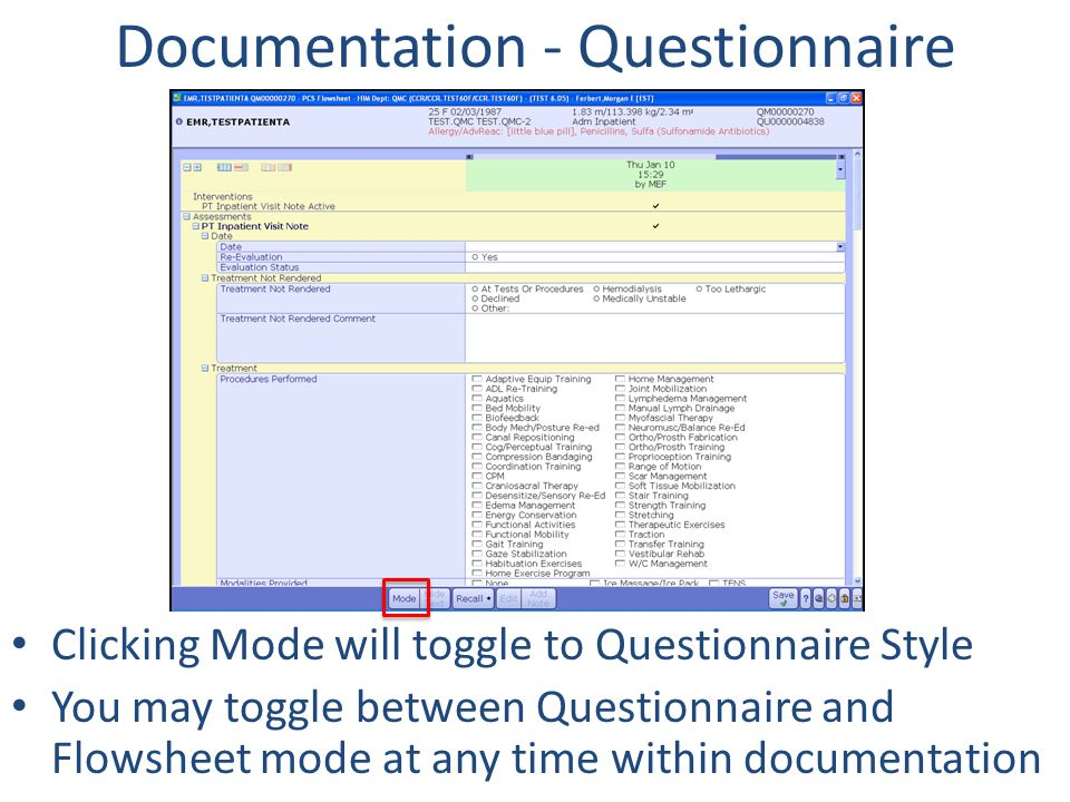 Documentation - Questionnaire