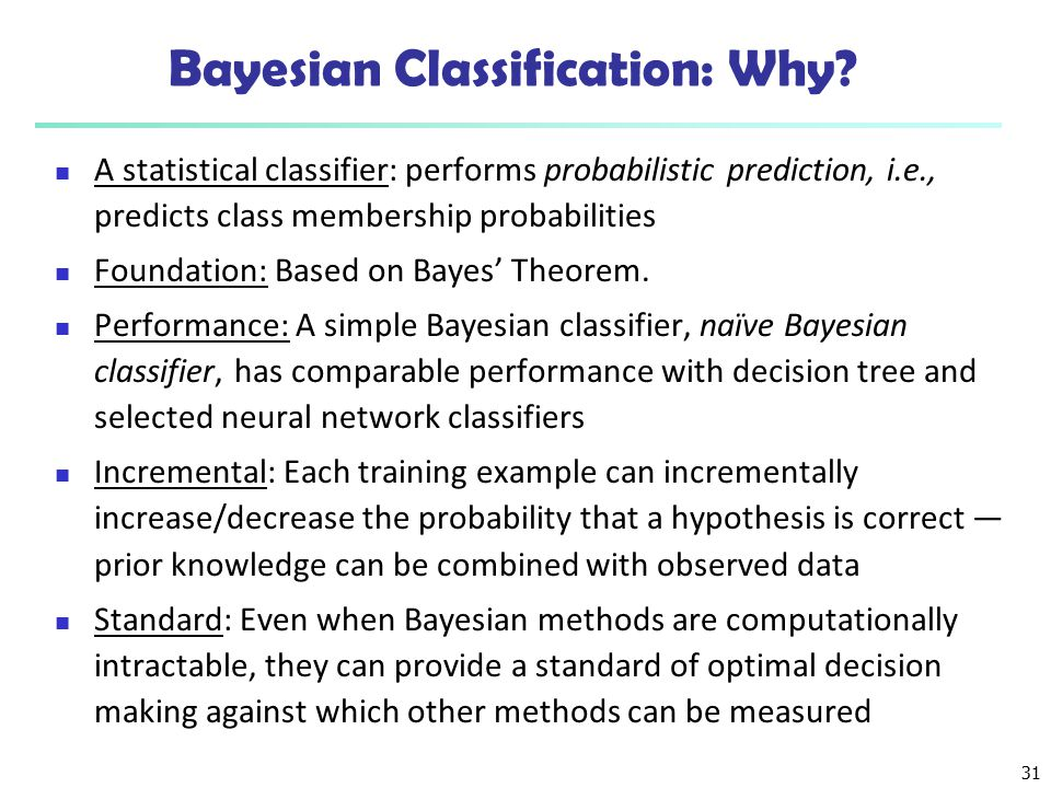 Bayesian Classification: Why