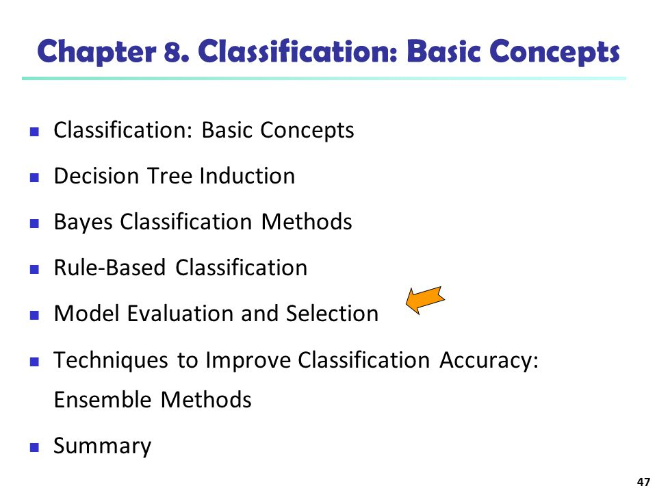 Chapter 8. Classification: Basic Concepts