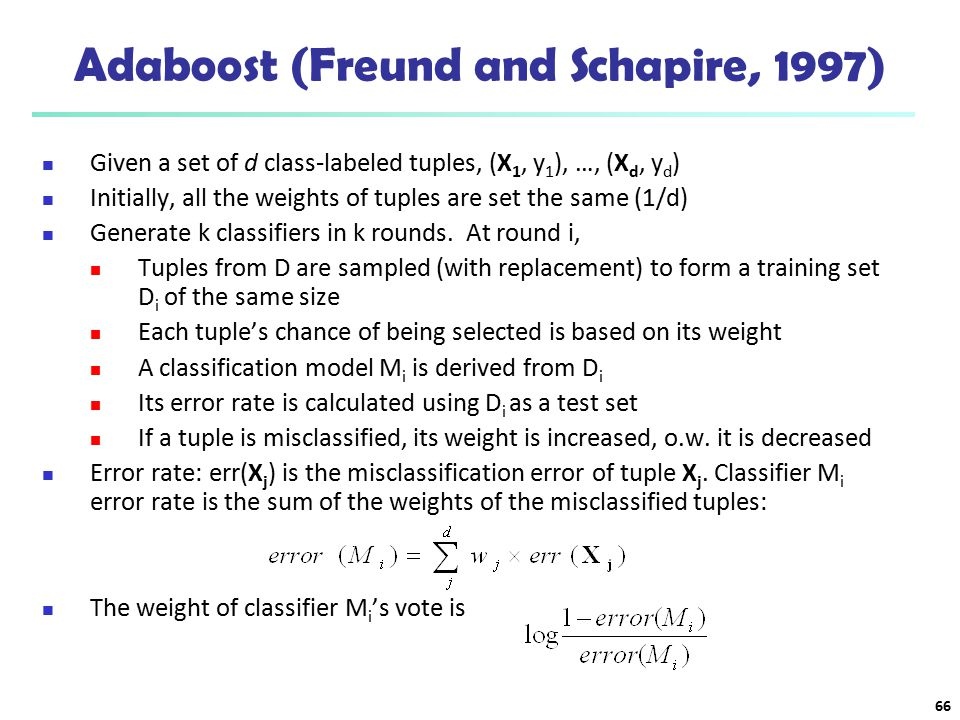Adaboost (Freund and Schapire, 1997)