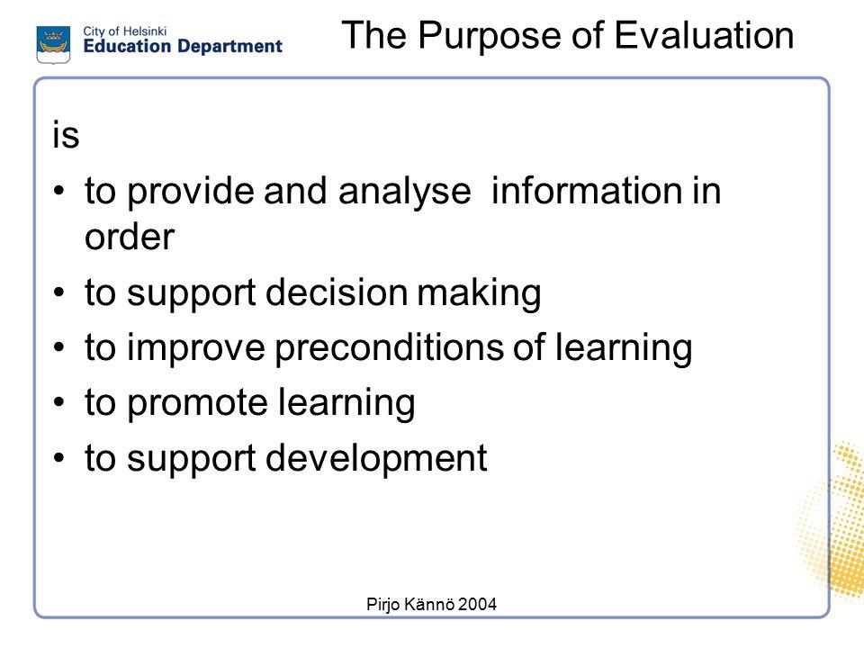 Evaluation of general education in Helsinki