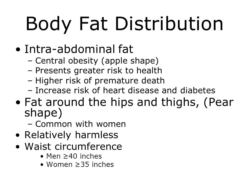 Body Fat Distribution Intra-abdominal fat