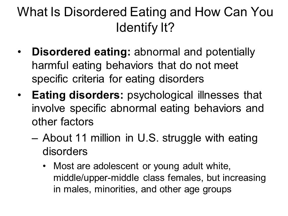 What Is Disordered Eating and How Can You Identify It