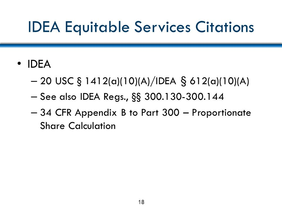 IDEA Equitable Services Citations