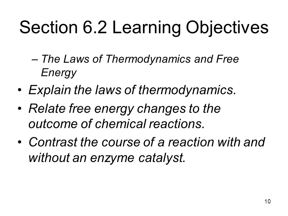 Section 6.2 Learning Objectives