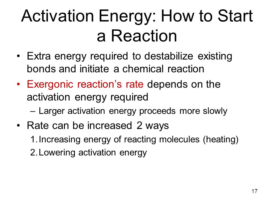 Activation Energy: How to Start a Reaction
