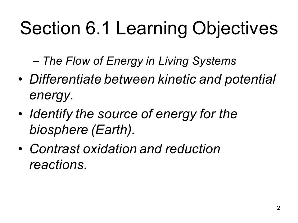 Section 6.1 Learning Objectives
