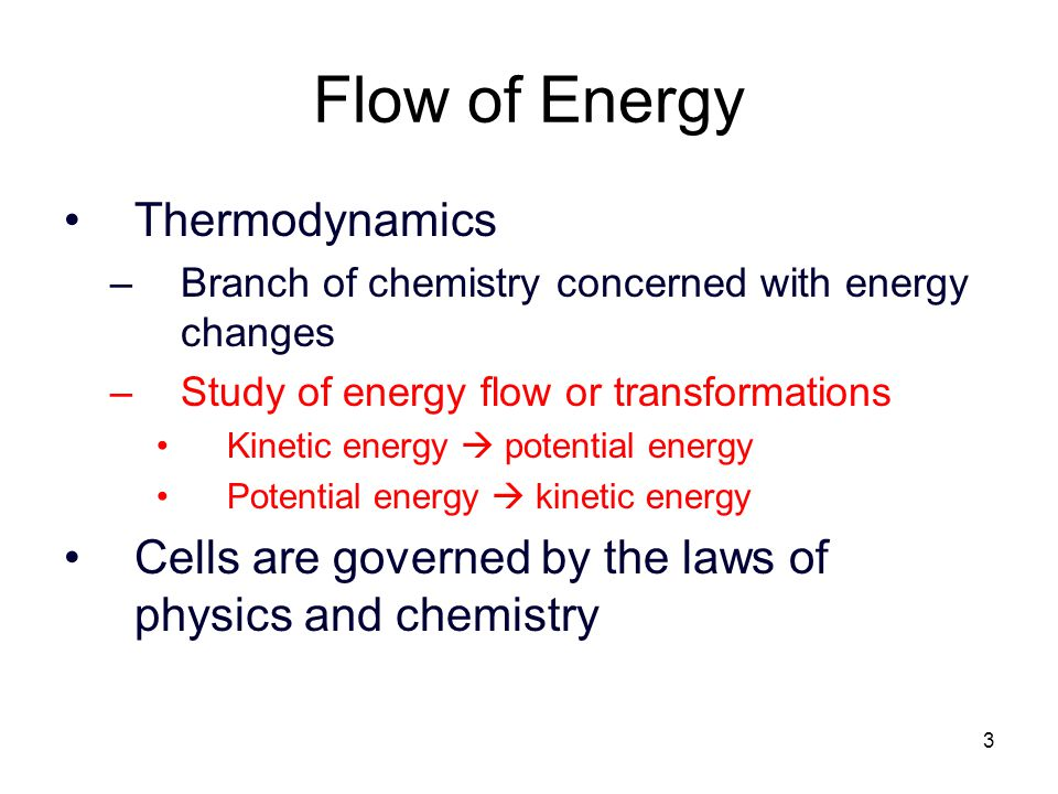 Flow of Energy Thermodynamics