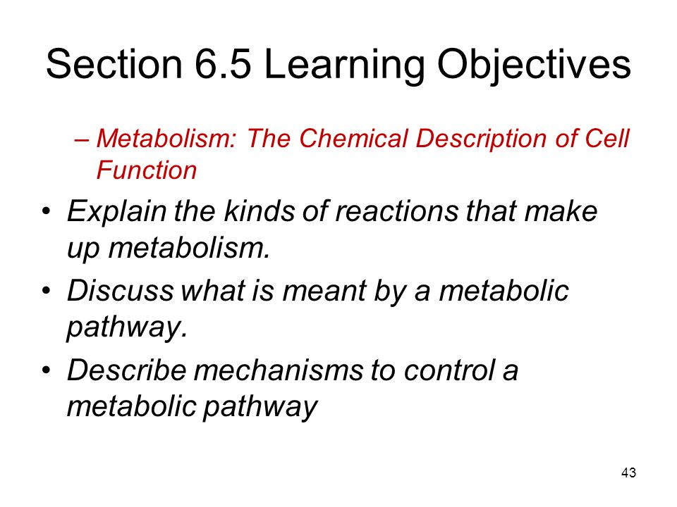 Section 6.5 Learning Objectives